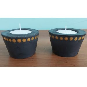 Moulded Cement Tea Light Candle Cups