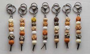 Silicone Bead Key Rings Savannah Colours Group
